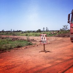 Sights from Northern Uganda. Roadworks are a staple of UG life.