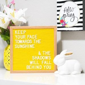 FeltLikeSharing Yellow Board