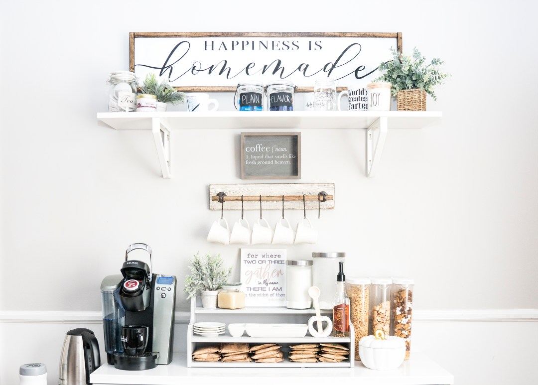 How To Set Up A Coffee Bar In Your Home!