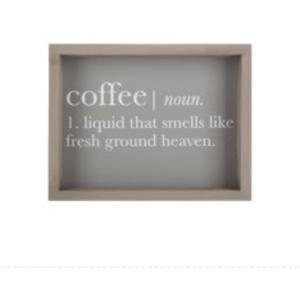 Coffee Definition Wood Wall Decor