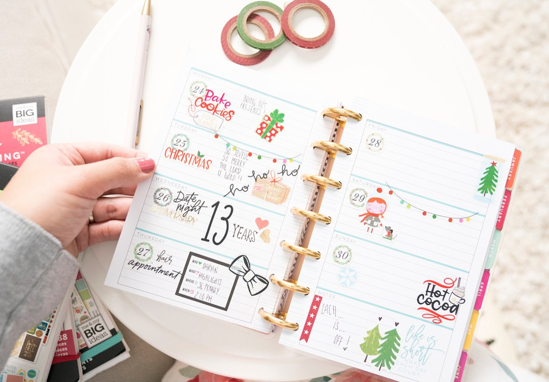 December Planning Christmas Style! – The Happy Planner Mini