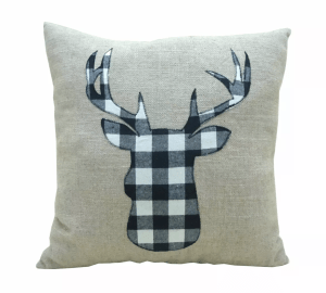Buffalo Check Pillow, Stag