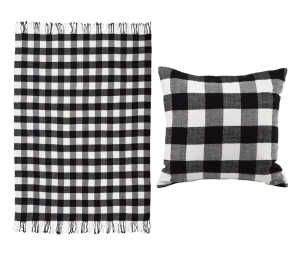 Christmas Buffalo Check Pillow & Throw