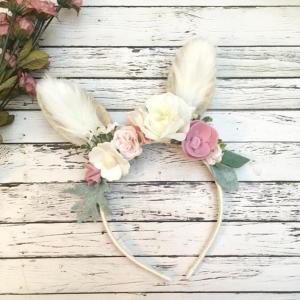 Bunny Floral Headband