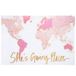 She's going places wall decor