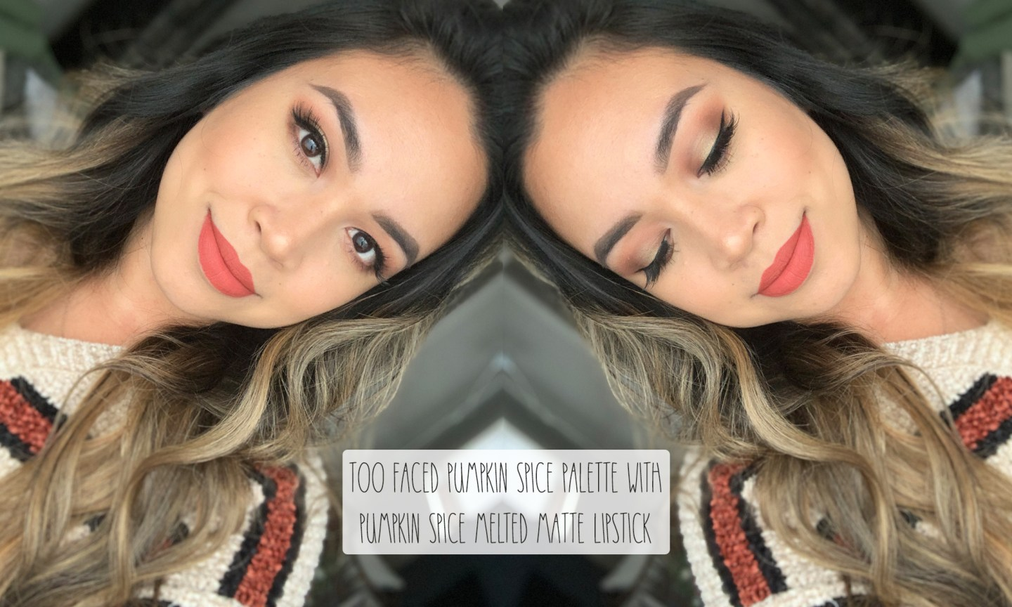 too faced pumpkin spice palette and lipstick