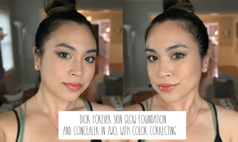 dior forever skin glow foundation + dior forever skin correct concealer
