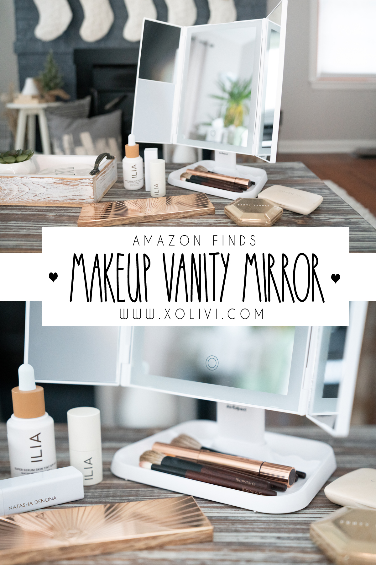 makeup vanity mirror dimmable magnification