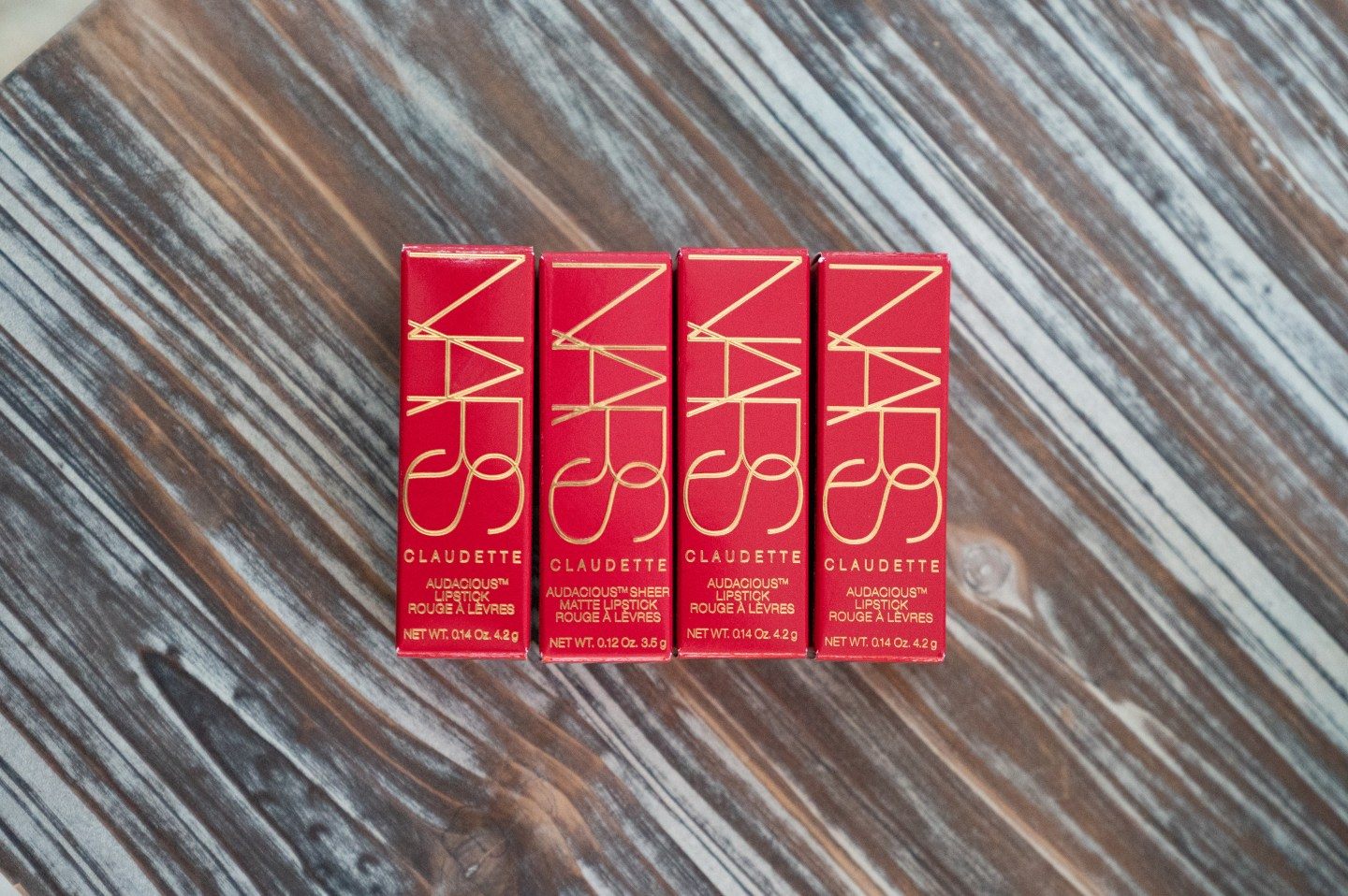 nars claudette collection audacious lipsticks