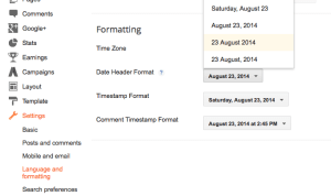 create a circular date header for blogger posts