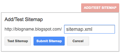 Adding Blogger Sitemap to Google and Bing Webmaster Tools