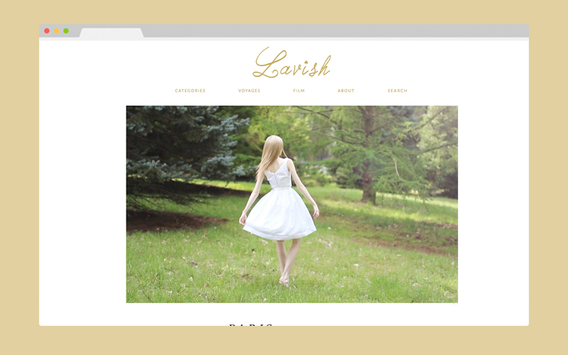 The Land Of Lavish - Blog Design