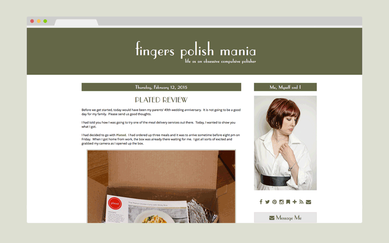 fingers polish mania - custom blogger design