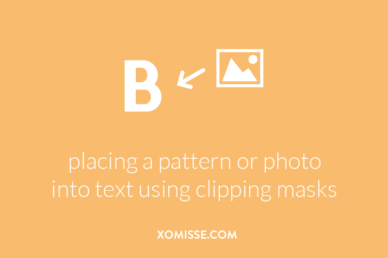 adding an image like a pattern or photograph to text or another image (mockup) by using clipping masks on Photoshop and Affinity