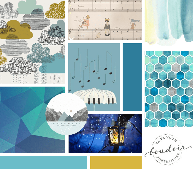 The Yellow Brick Road Blog Brand Board moodboard