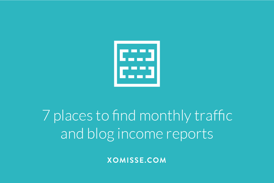 I share 7 blogs that are publishing monthly traffic stats and blog income reports, giving you details of how to monetise your blog.