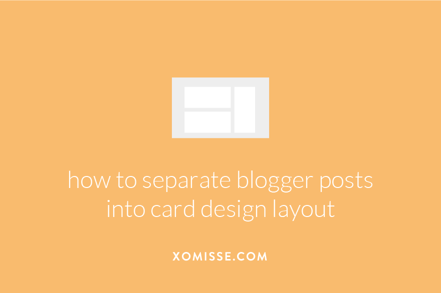 How to achieve card based blog design on Blogger - divide each post into separate box