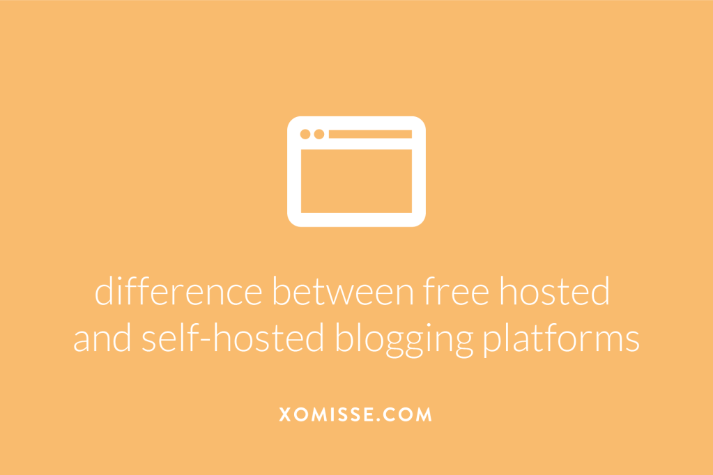 The difference between free hosted blogging platforms and self-hosted blogging platforms.