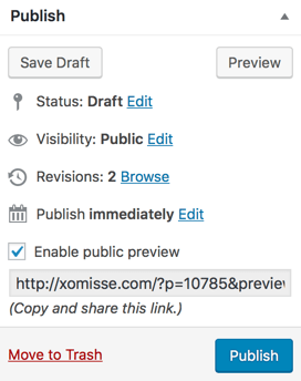 how to share a preview of a drafted post with someone without publishing