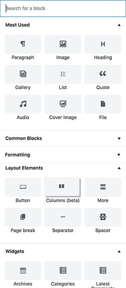 Gutenberg - Adding Blocks in WordPress