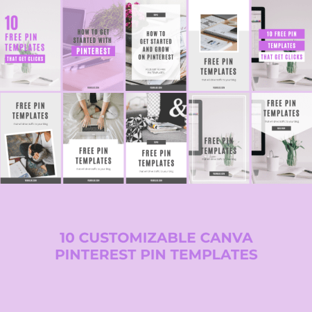 Pinterest Pin Templates (Canva)
