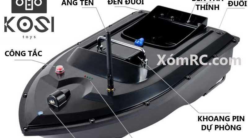 Thuyền thả thính KOSI HUNTER thế hệ mới với trang bị vô cùng hiện đại