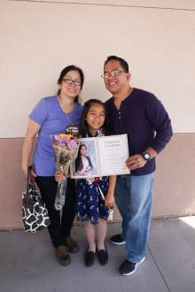 Erielle with her Mama & Papa
