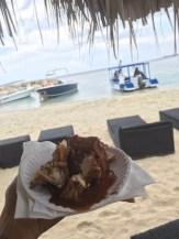 Jerk Chicken along the beach