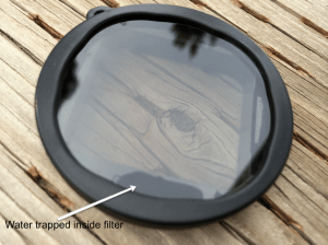 PolarPro filter water in filter