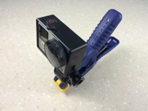 DIY GoPro spring clamp with gopro