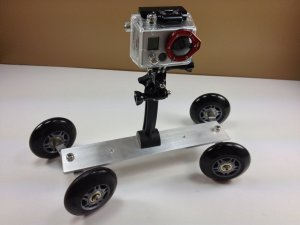 DIY GoPro camera dolly with Hero2