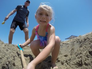 GoPro at the beach