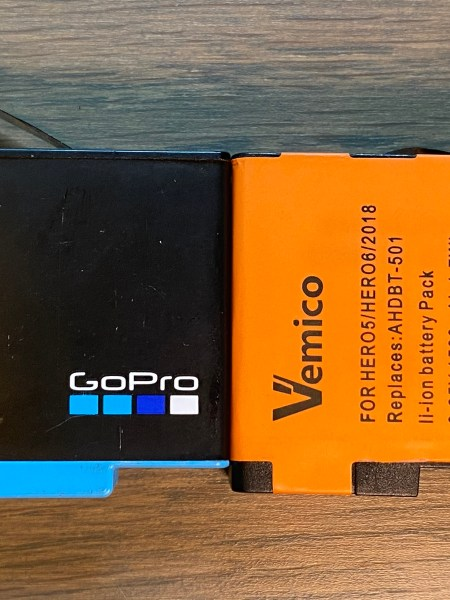 GoPro vs Vemico batteries
