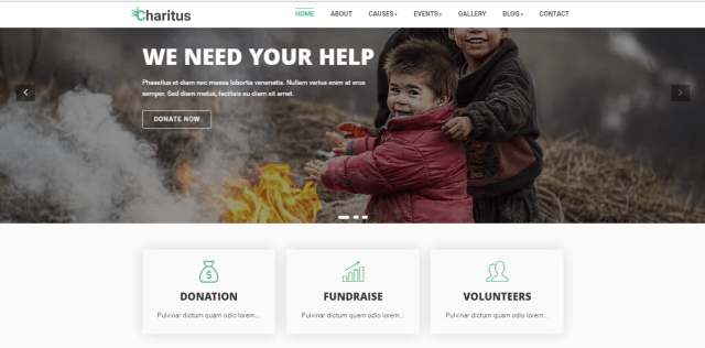 20 free bootstrap charity templates with download link xoothemes com