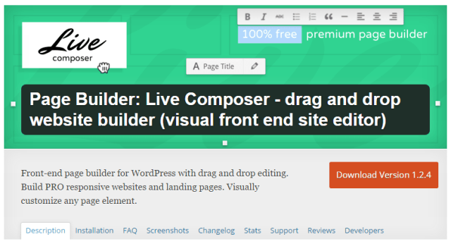 Live Composer Free Drag and Drop Website Builder