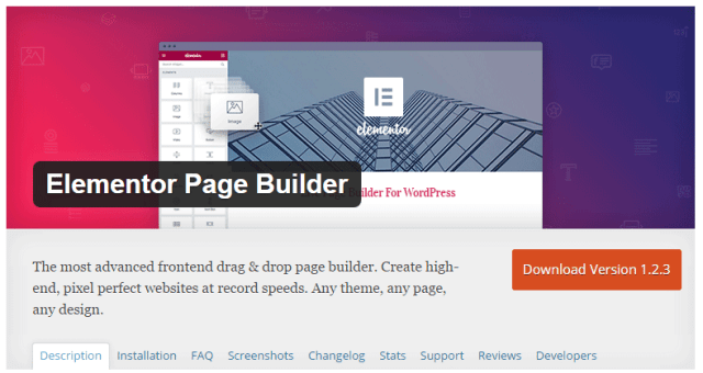 Elementor Page Builder - Best quality Free Drag and Drop Page Builder