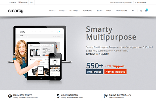 30 free bootstrap business website templates for small businesses smarty multi purpose template cheaphphosting Gallery