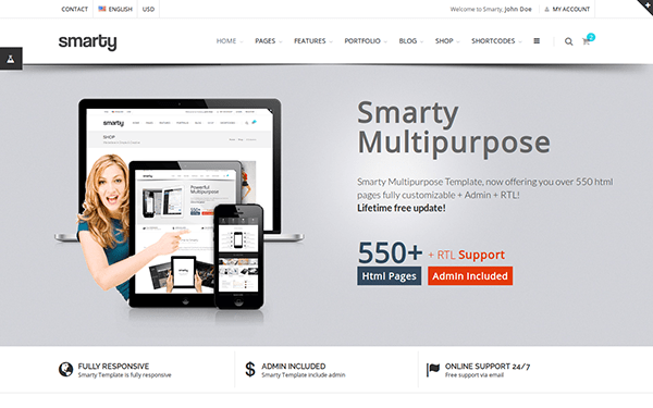 30 free bootstrap business website templates for small businesses smarty multi purpose template wajeb Gallery