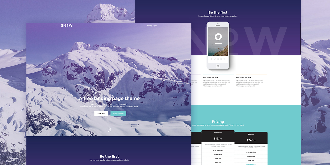 20+ Free Bootstrap Landing Page Templates - XooThemes