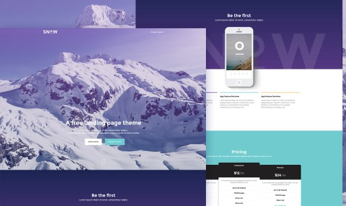 20+ Free Bootstrap Landing Page Templates
