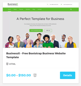 BusinessX – Free Bootstrap Business Website Template
