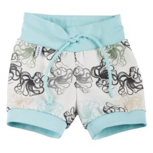 Drawstring Shorts Octopus Aqua
