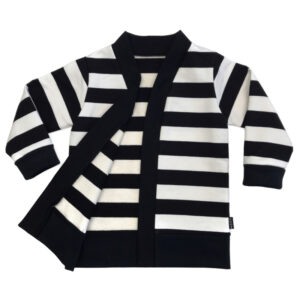 Sweat Cardigan Blockstripe