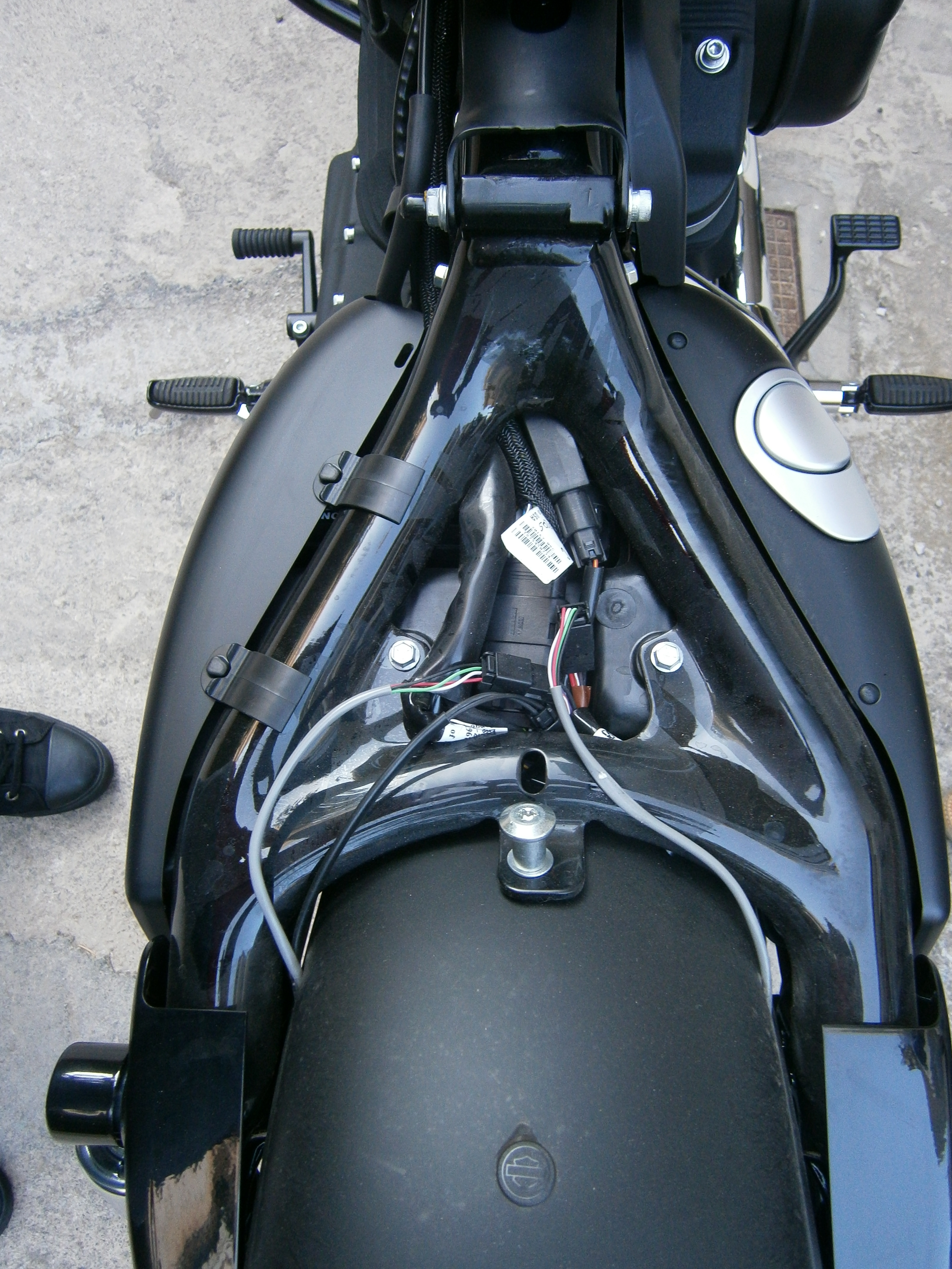 harley davidson tail light wiring diagram for trailer lights 7 way how-to: install side-mount license plate on a harley-davidson sportster | xorl %eax, %eax