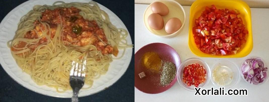Egg sauce for pasta