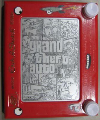 Etch A Sketch Grand Theft Auto 4