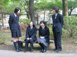 Japanese Schoolgirls wearing slacks