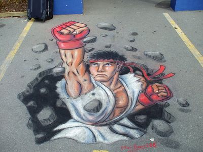 Street Fighter IV Ryu Concrete Art