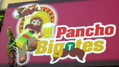 Mario on Pancho Bigotes sign
