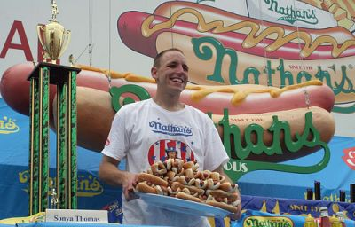 Joey Chestnut wins 2008 Nathan's Hot Dog Eating Contest
